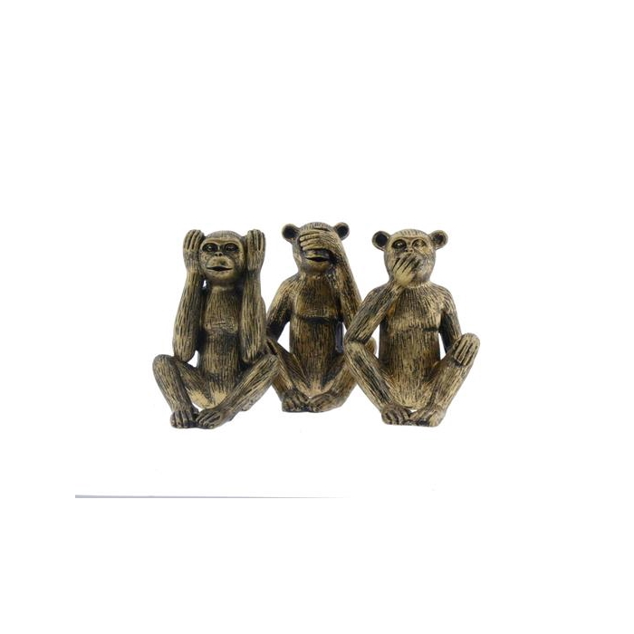 <h4>Fig. Monkey Mix 12cm Gold</h4>