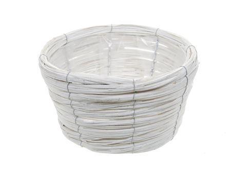 <h4>Basket Paia d27xh15 white</h4>