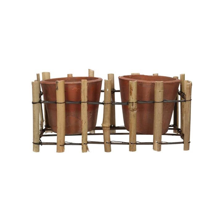 <h4>Sale Tray bamboo+2pot d25/12*12cm</h4>