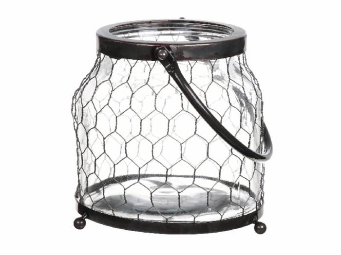 <h4>DF530361600 - Vase Braxlin2 13/16.5x17 metal</h4>