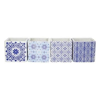 <h4>Ceramics Cube Dutch d12.5*12.5cm ass.</h4>