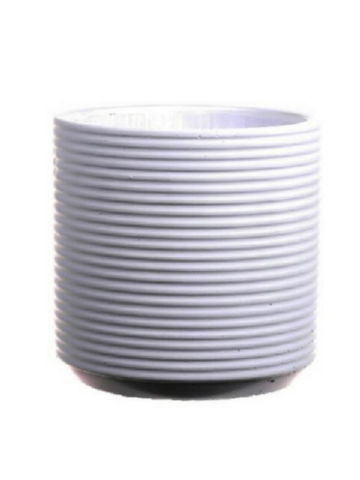 <h4>DF661980147 - Pot Parma d13xh15.5 white</h4>