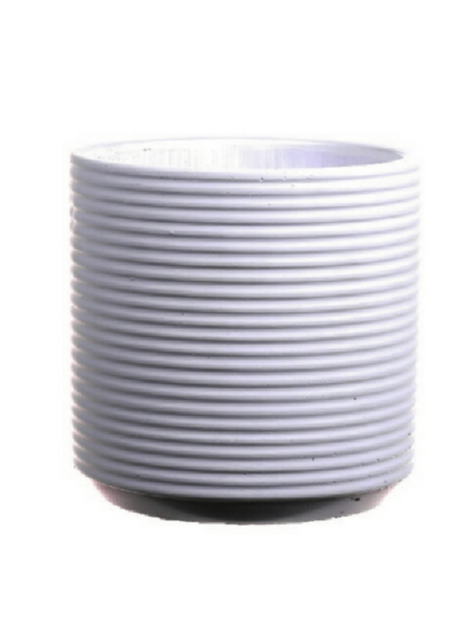 <h4>DF661980147 - Pot Parma d13xh15.5 white</h4>