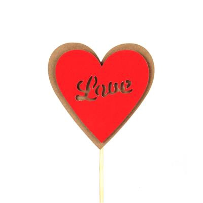 <h4>Pique cœur kraft 8x8cm+50cm bâton rouge</h4>