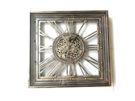<h4>Clock Gear Open 80x80cm A.gold</h4>