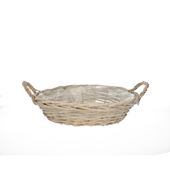 <h4>Baskets Olivia bowl+handle d33*7cm</h4>