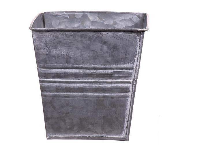 <h4>DF663170437 - Pot Yates square 12.5x12.5xh12.5 grey</h4>