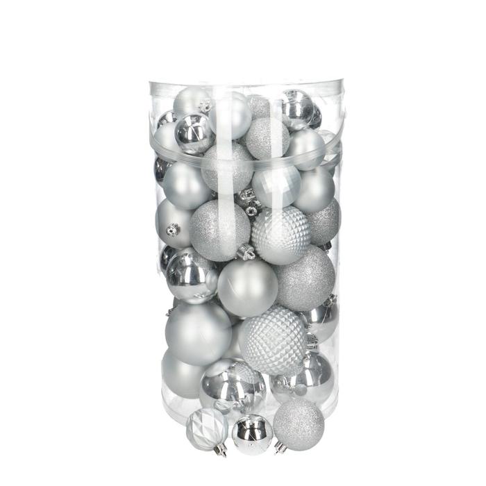 <h4>Christmas bauble Ball plastic 40/60mm x100 ass</h4>