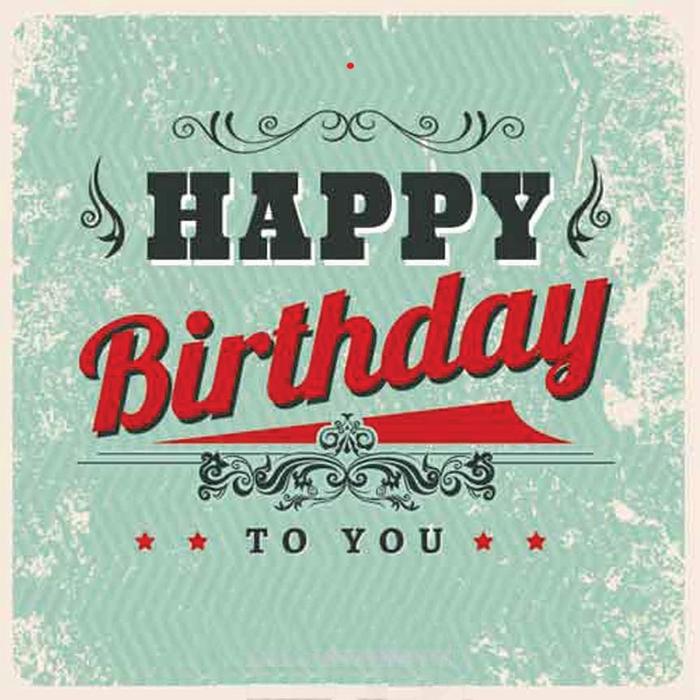 <h4>BLOEMENKAARTJE - Happy birthday (retro) -  6.5*6.5cm - 50pcs</h4>