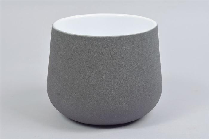 <h4>Berlijn Steengrijs Pot 19x15cm</h4>
