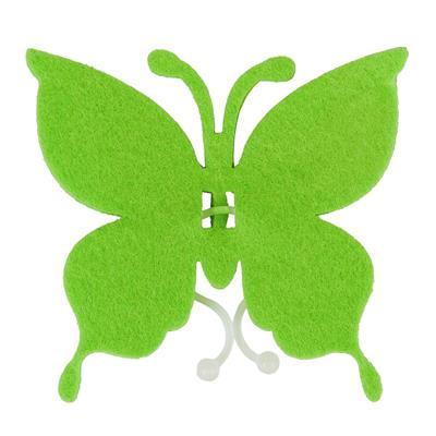 <h4>Butterfly felt 8x8,5cm + clip green</h4>