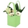 Bag Pastel felt 12,5x11,5xH14,5cm green