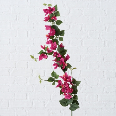 <h4>Zijde, Bougainvillea tak, L 120 cm, 1 ass, Fuchsia</h4>