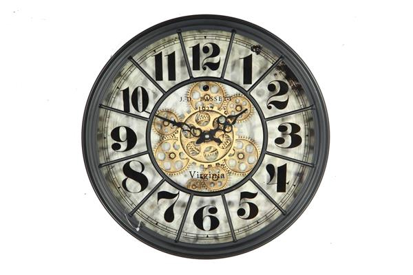 <h4>Clock Gear Ø46cm Black 81310</h4>