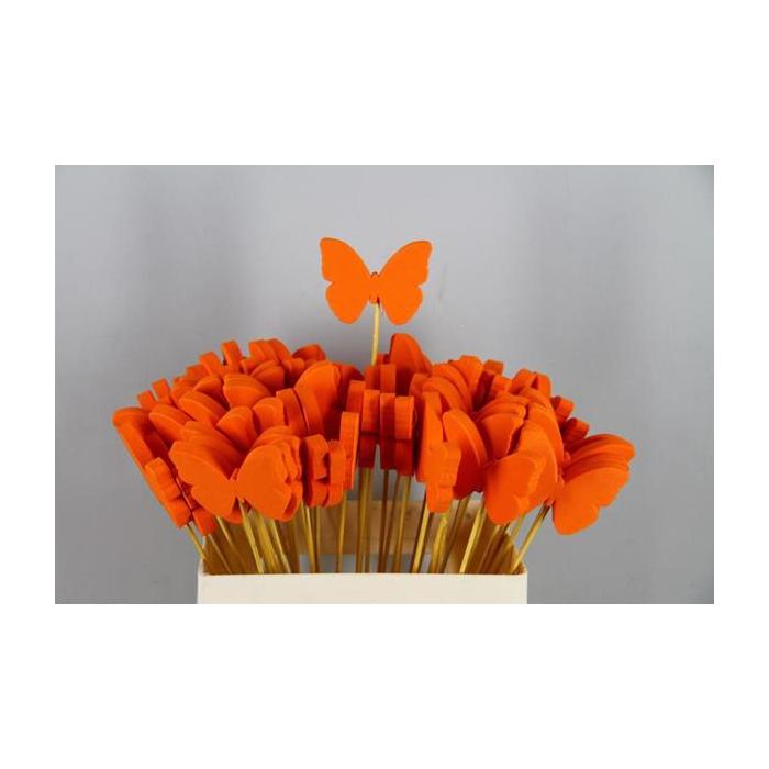 <h4>Stick Butterfly Foam Orange</h4>