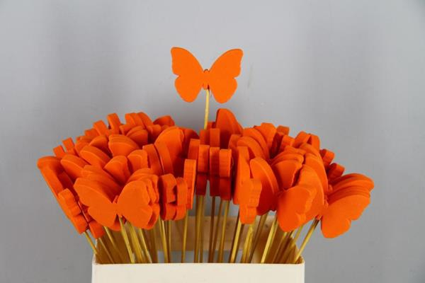 <h4>Stick Butterfly Foam Orange</h4>