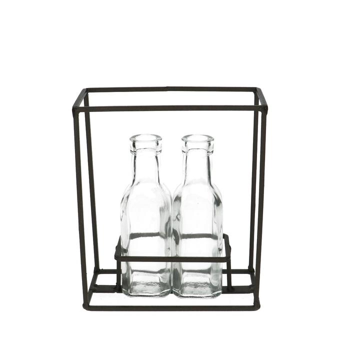<h4>Glas Rek 2 fles vk d3/5*16cm</h4>