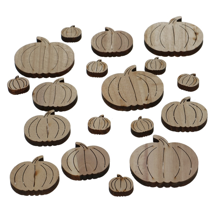 <h4>Autumn Wood pumpkin d3-7cm x18</h4>