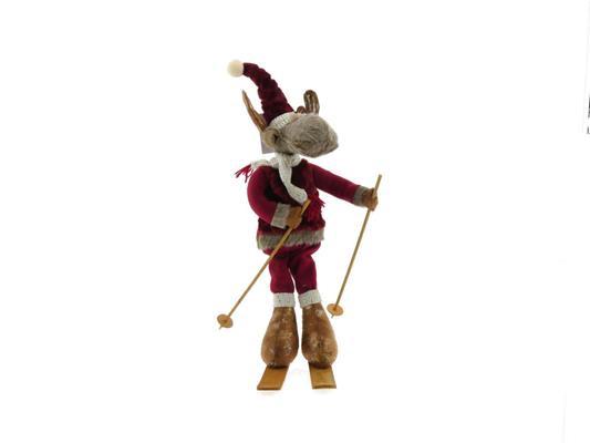 <h4>Fig. Reindeer Red 14x8x45cm</h4>