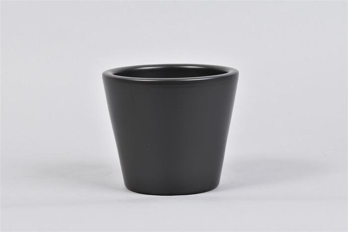 <h4>Vinci Mat Zwart Pot Container 12x10cm</h4>