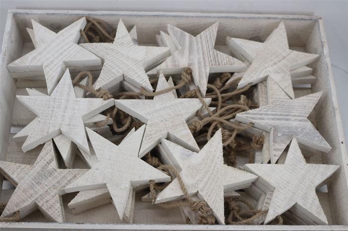 <h4>Wooden Star W Rope Set X44 Pcs</h4>