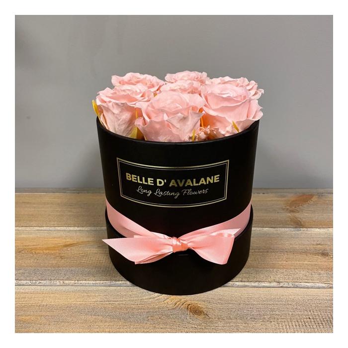 <h4>Box rd 15cm zwart-roze</h4>