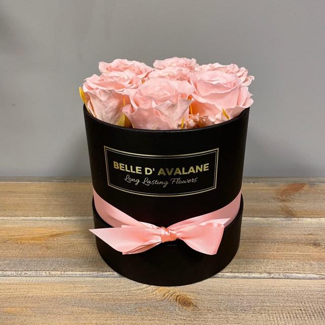 Box rd 15cm zwart-roze