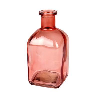 <h4>Vaas Bamako glas L6,5xB6,5xH13cm peach transparant</h4>