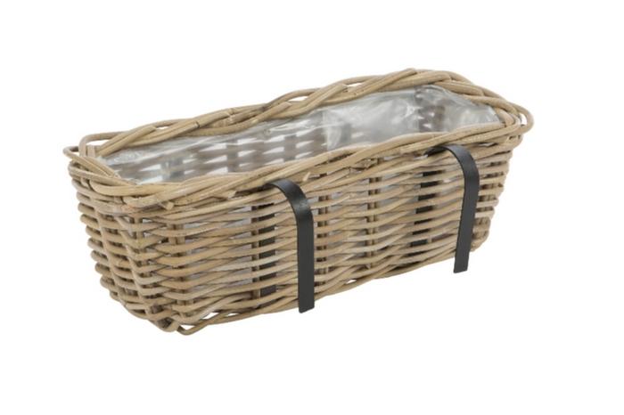 <h4>DF888002500 - Balcony basket Pinon 46x23x16 grey</h4>
