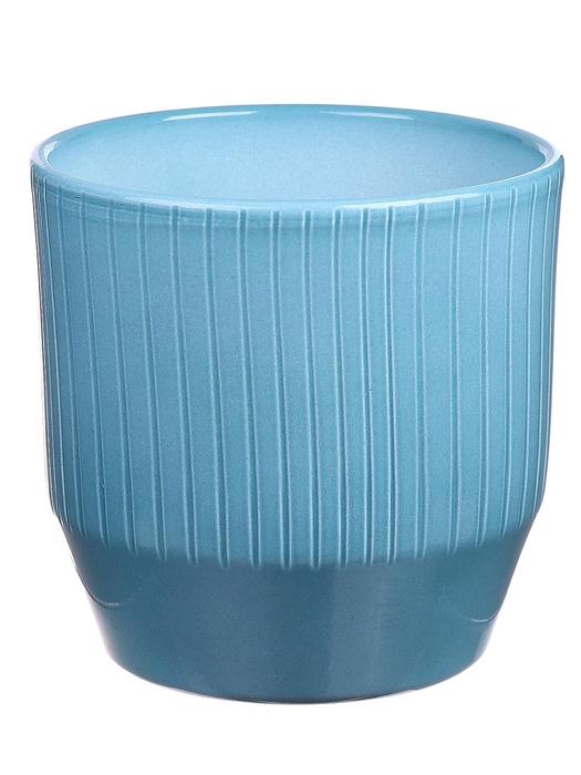 <h4>DF883748847 - Pot Pisa+lines d13.5xh13.2 ocean glazed</h4>