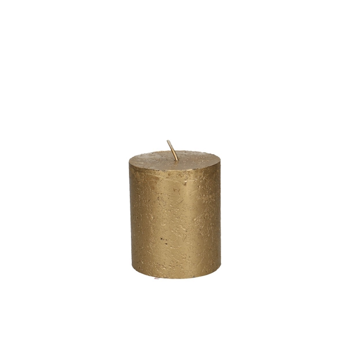 <h4>Candle Cylinder metallic d07*08cm Rustic</h4>