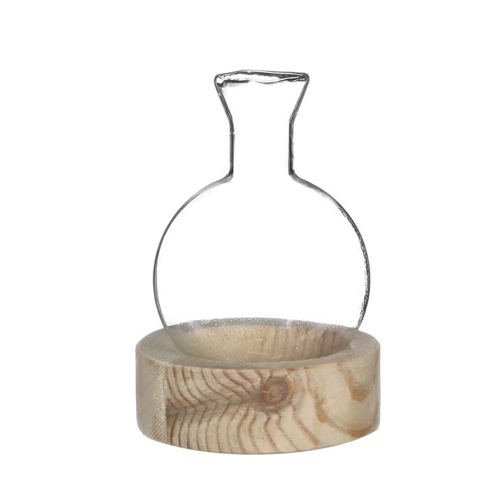<h4>Glas Decobal+tuut+voet d05*8cm</h4>