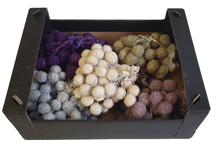 <h4>Small ball per bunch in poly mixed colors christmass 2</h4>