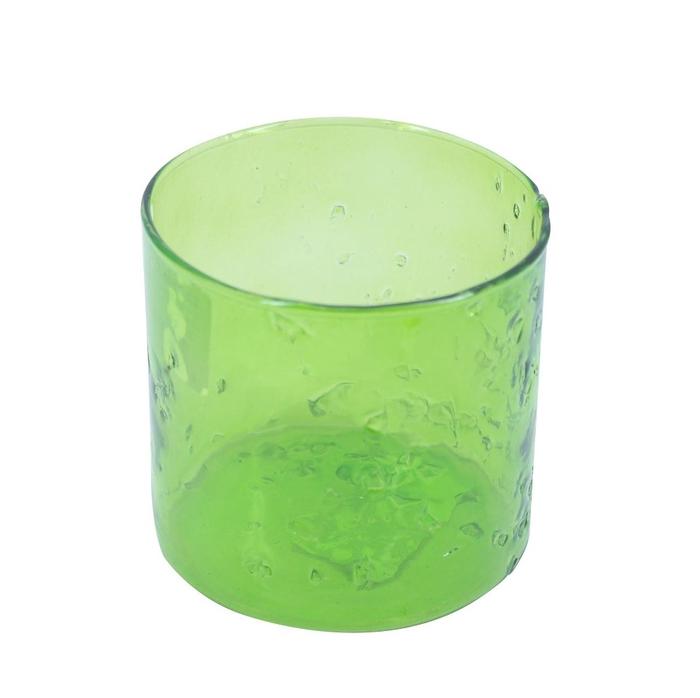 <h4>Glass colour Cylinder smashed d10*10cm</h4>