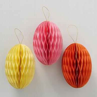 <h4>Decorative pendant Sander, 3 ass., Egg, H 17 cm, D 12 cm, Paper paper colour-mix</h4>