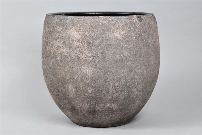 <h4>Bali Indonesian Grey Pot 35x32cm</h4>