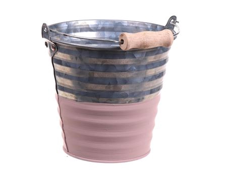<h4>Bucket Yreka d13.5xh12 old pink</h4>