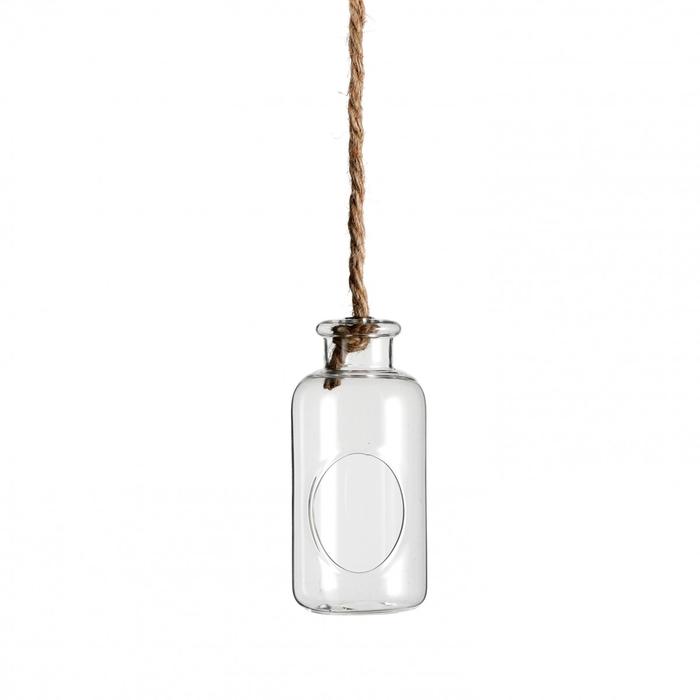 <h4>Glass Bottle+rope d7.5*17cm</h4>