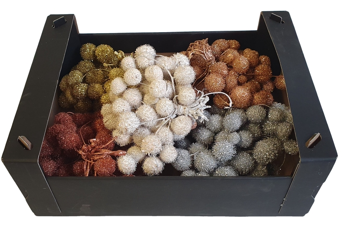 <h4>Small ball per bunch in poly mixed colors christmass 1</h4>