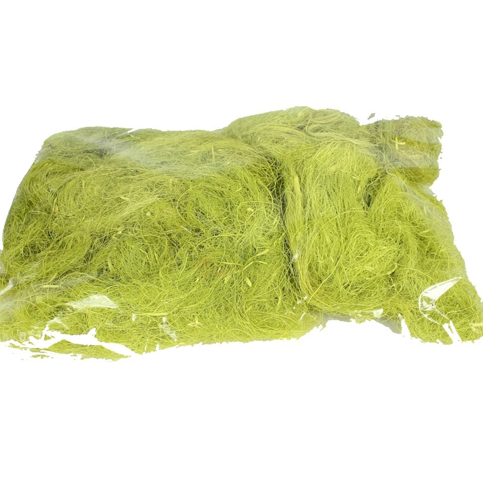 <h4>Coco fibre 250gram in poly light-green</h4>