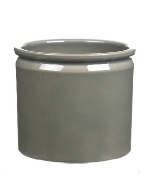 <h4>DF883676700 - Pot Lucca1 d19.4xh17.6cm green Tray/4</h4>
