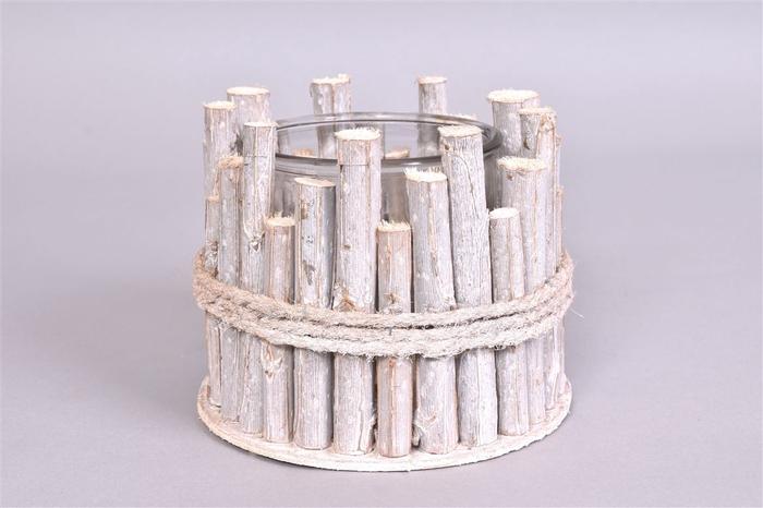 <h4>Driftwood Berkentak Glaspot 16x14cm</h4>