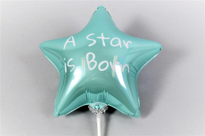 <h4>Bijsteker Ballon Star Is Born L.blauw P/1 24x12x60</h4>
