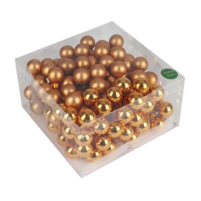 <h4>Boules de Noël sur fil 25mm cuivre ass. 144pcs</h4>