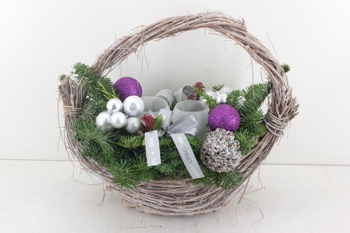 <h4>arr.. Kerst PL - Mand ovaal XL lila 338/2</h4>