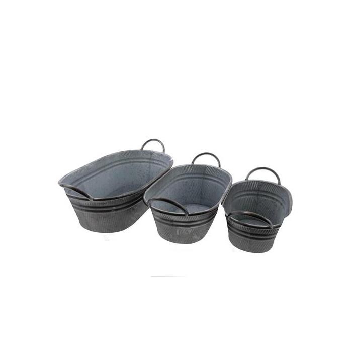 <h4>Planter Tub Zinc S/3 43x24x14</h4>