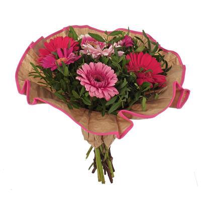 <h4>Bouquet cover Softline kraft Ø32cm pink</h4>