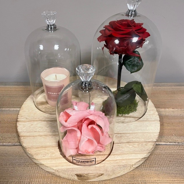 <h4>Stolp rd trio rood-roze-kaars</h4>