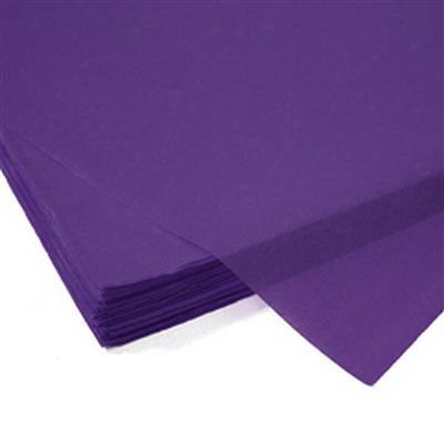<h4>Papier vel: 50x75cm zijde 480 vellen 17gr paars *</h4>