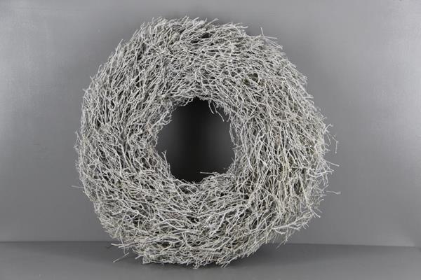 <h4>Wreath Tea Twig 65cm Whitewash</h4>